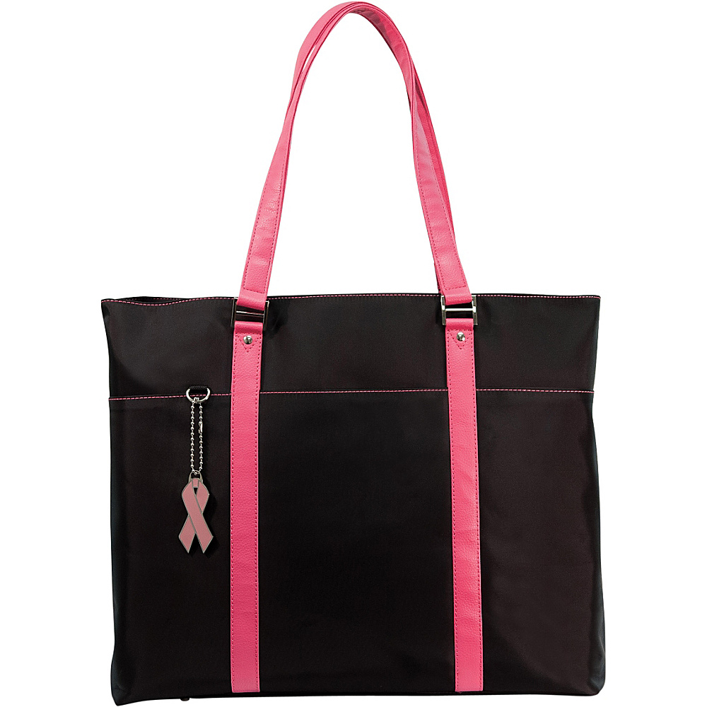 Mobile Edge Komen Microfiber  Tote - Black/Pink - Work Bags & Briefcases, Women's Business Bags