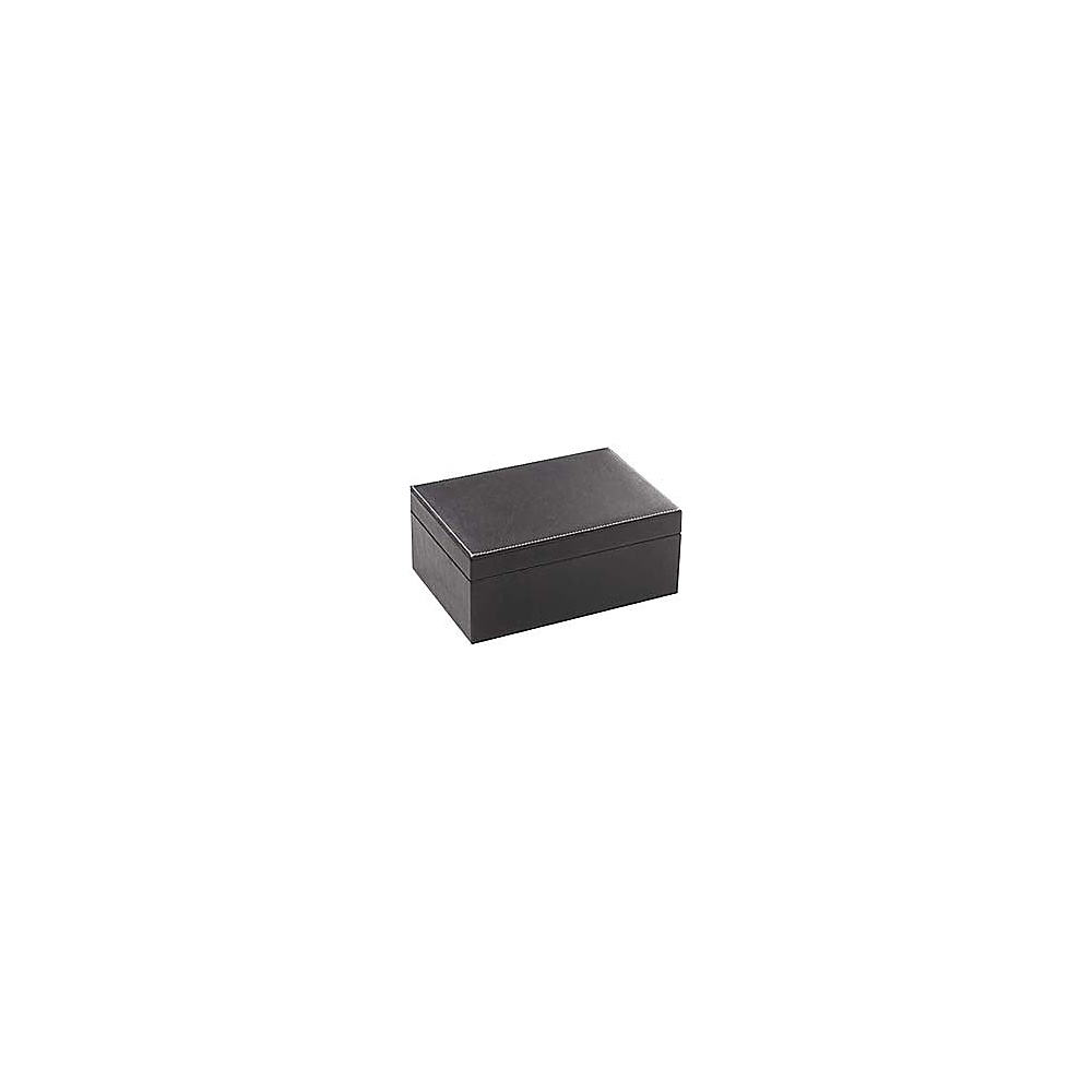 Clava Rectangle Leather Box - Tuscan Black - Work Bags & Briefcases, Business Accessories