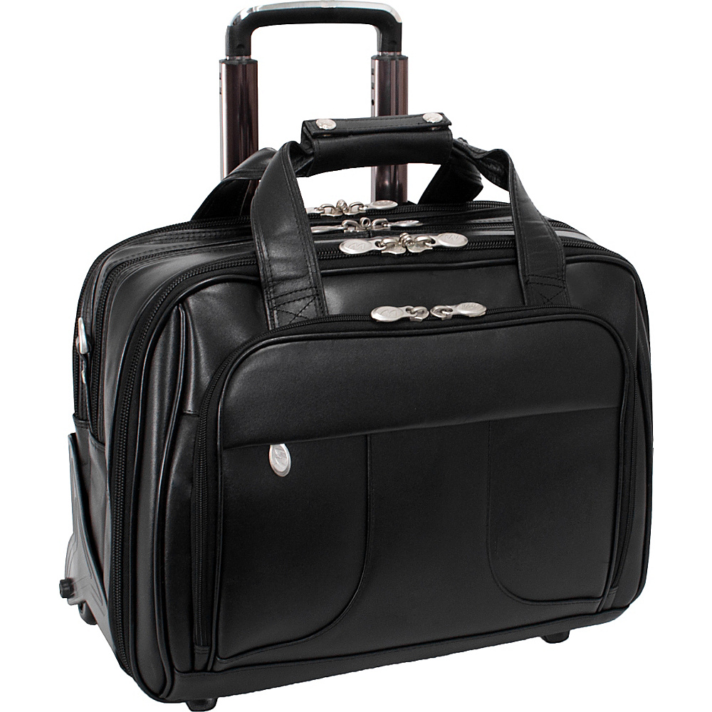 McKlein USA Chicago Leather Wheeled 17 Laptop Case - Work Bags & Briefcases, Wheeled Business Cases
