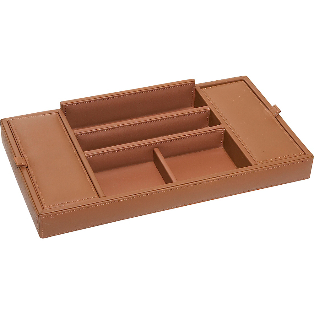 Royce Leather Men's Leather Valet Tray Tan