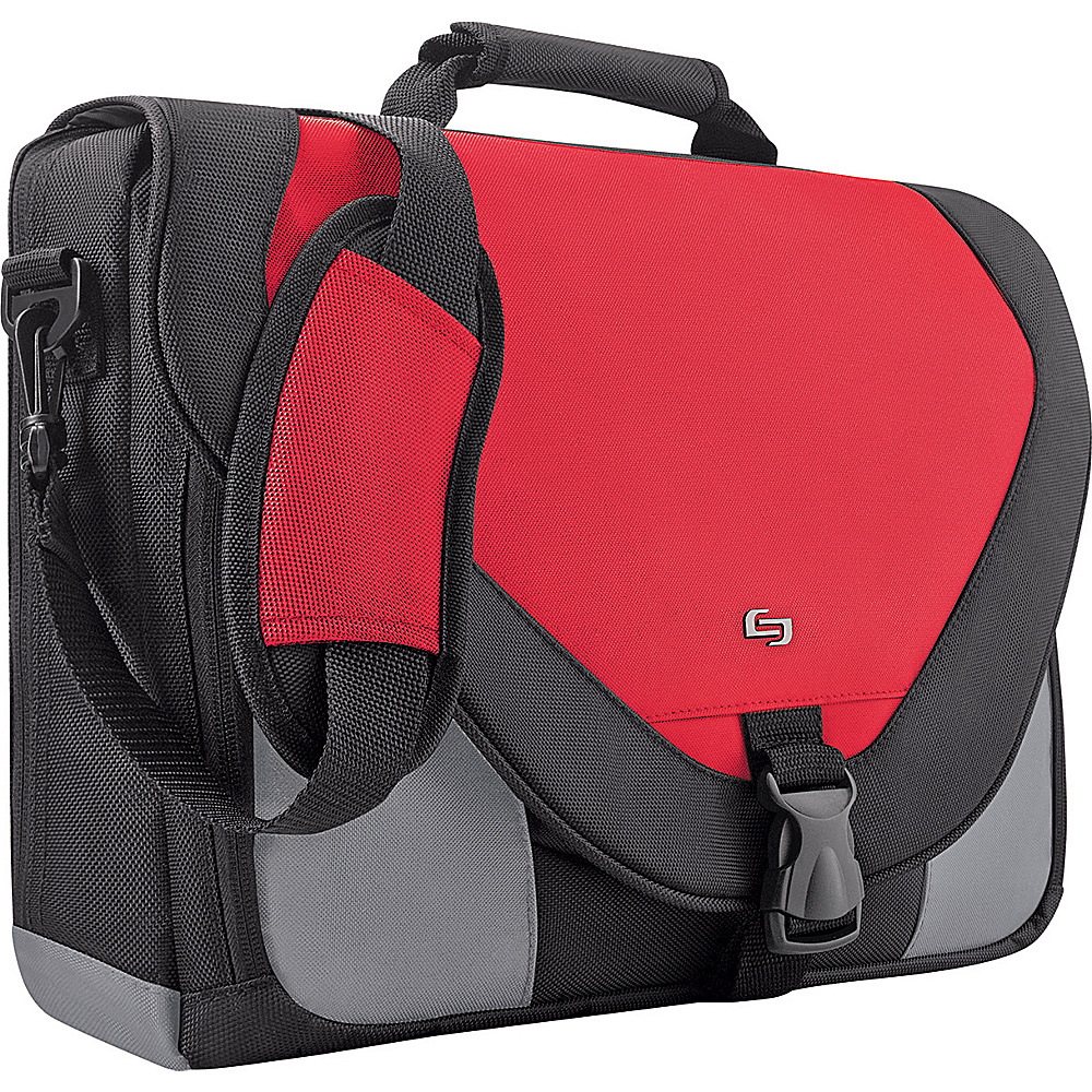 SOLO Poly Twist Computer Messenger Bag - Red - Work Bags & Briefcases, Non-Wheeled Business Cases