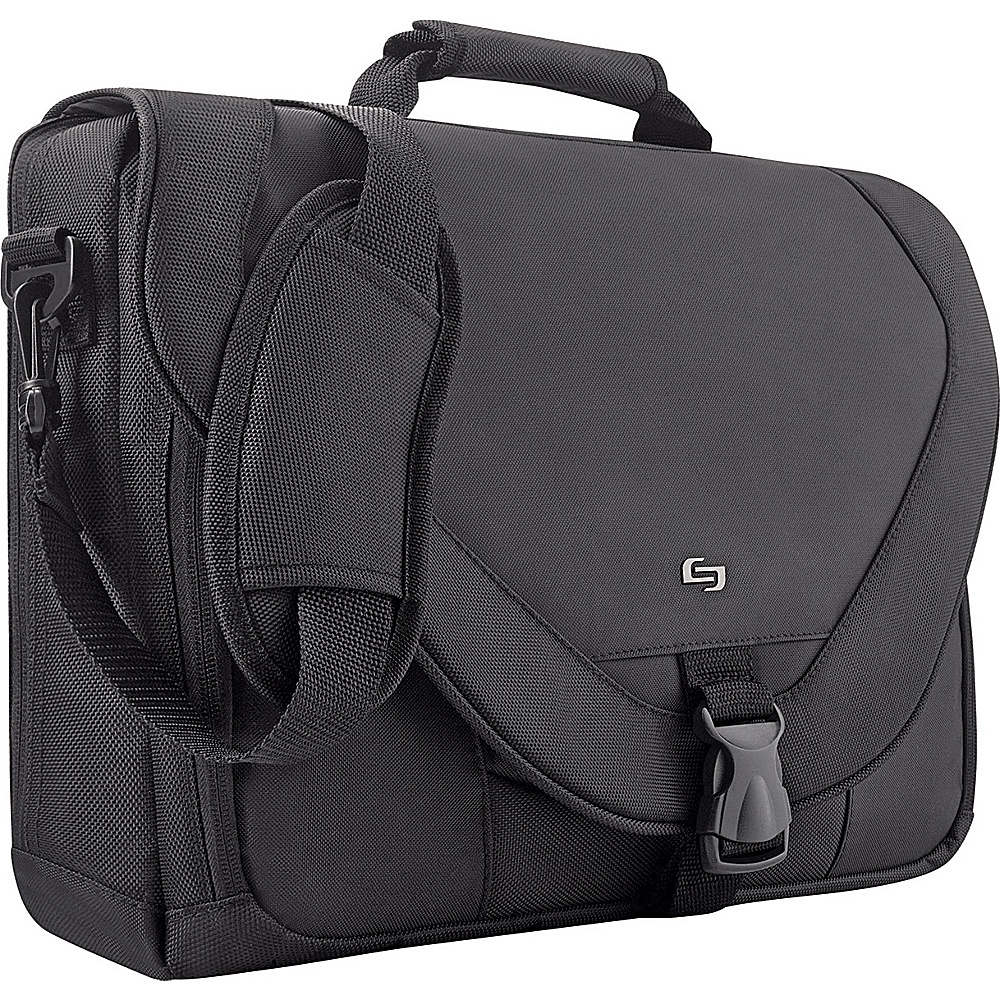 SOLO Poly Twist Computer Messenger Bag - Black - Work Bags & Briefcases, Non-Wheeled Business Cases