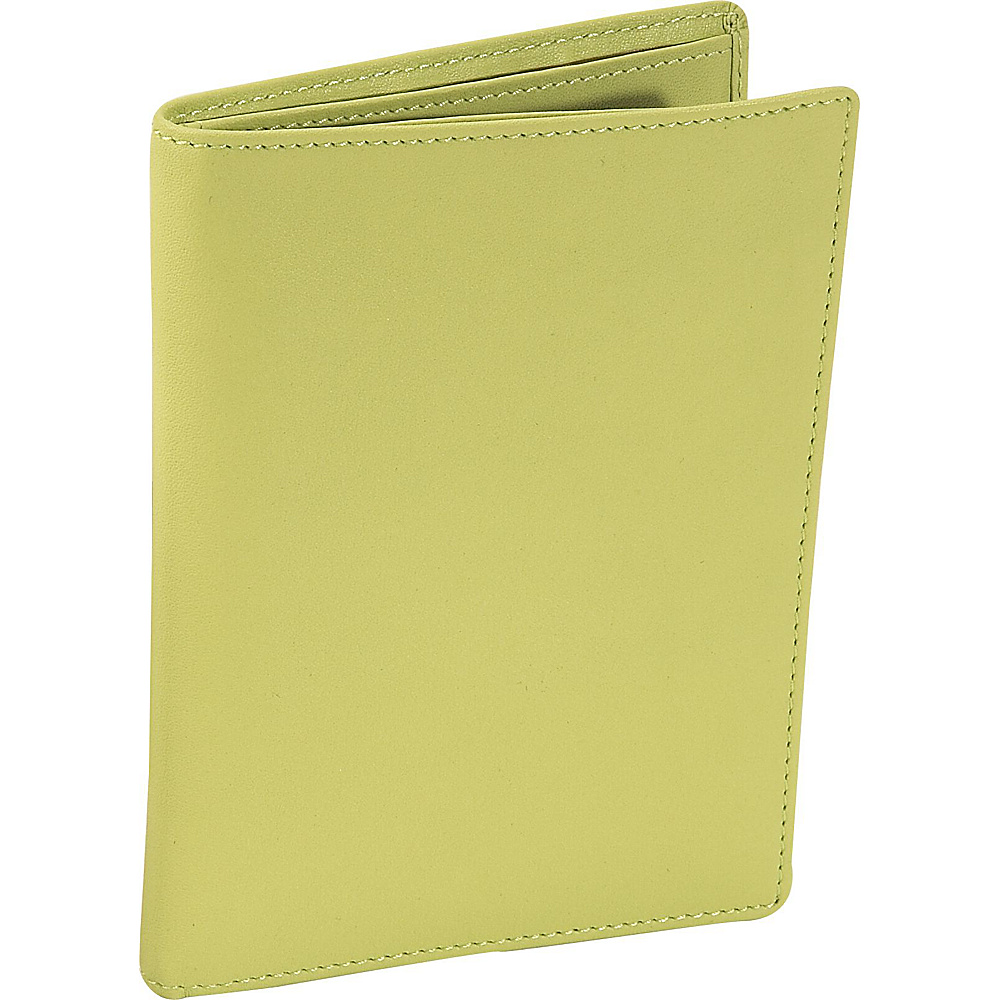 Royce Leather Passport Currency Wallet - Key Lime Green - Travel Accessories, Travel Wallets