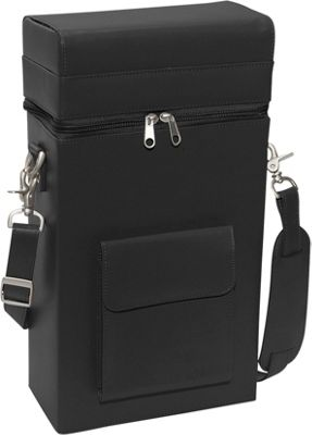 Royce Leather Connoisseur Wine Carrier - Black