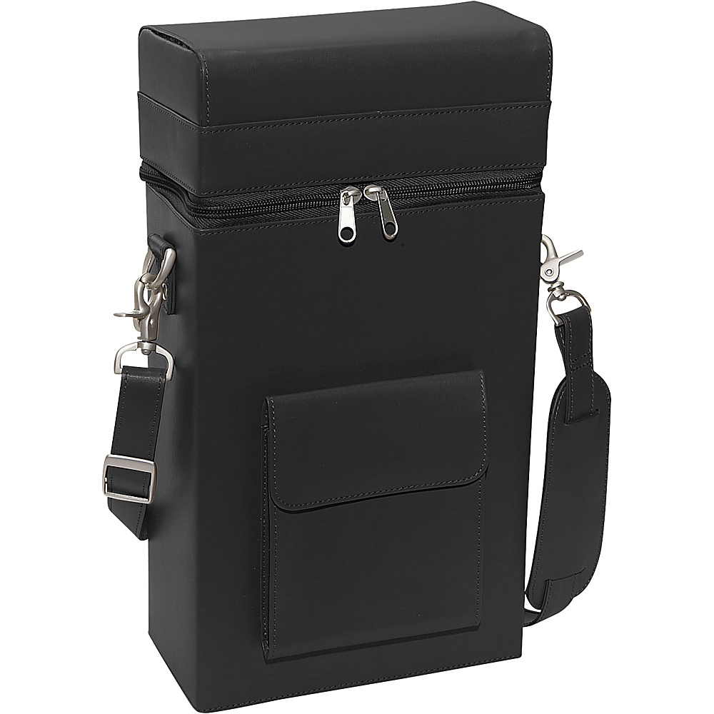 Royce Leather Connoisseur Wine Carrier - Black - Outdoor, Outdoor Accessories