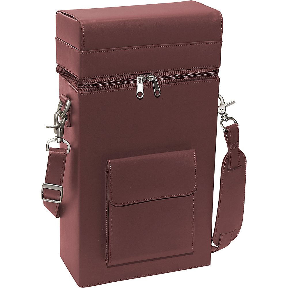 Royce Leather Connoisseur Wine Carrier - Burgundy - Outdoor, Outdoor Accessories
