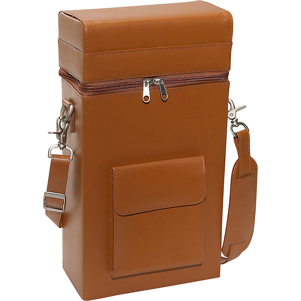 Royce Leather Connoisseur Wine Carrier - Tan - Outdoor, Outdoor Accessories