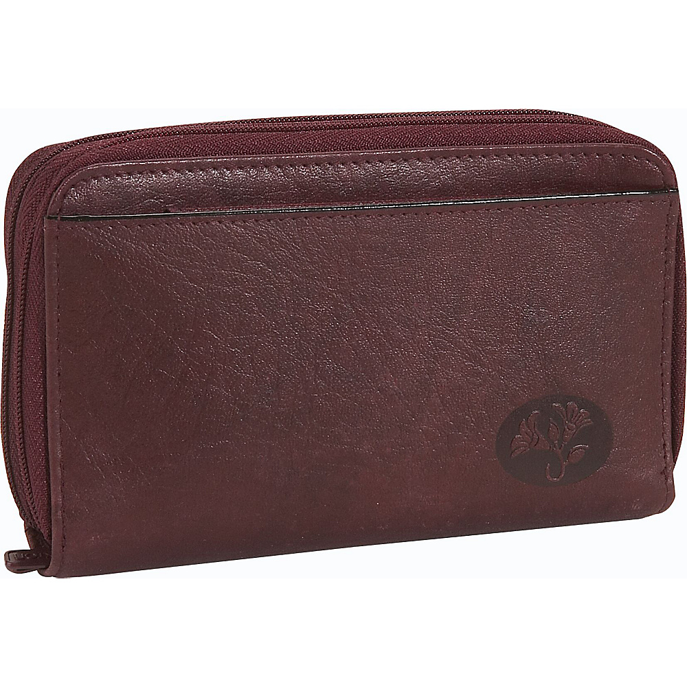 Buxton Heiress Double Zip-Around Indexer - Burgundy - Women's SLG, Women's Wallets