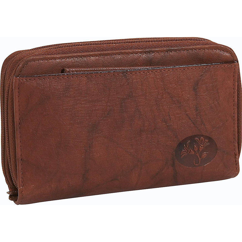 Buxton Heiress Double Zip-Around Indexer - Mahogany - Women's SLG, Women's Wallets