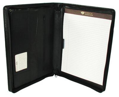 Bosca Nappa Vitello Zipper Portfolio - Black