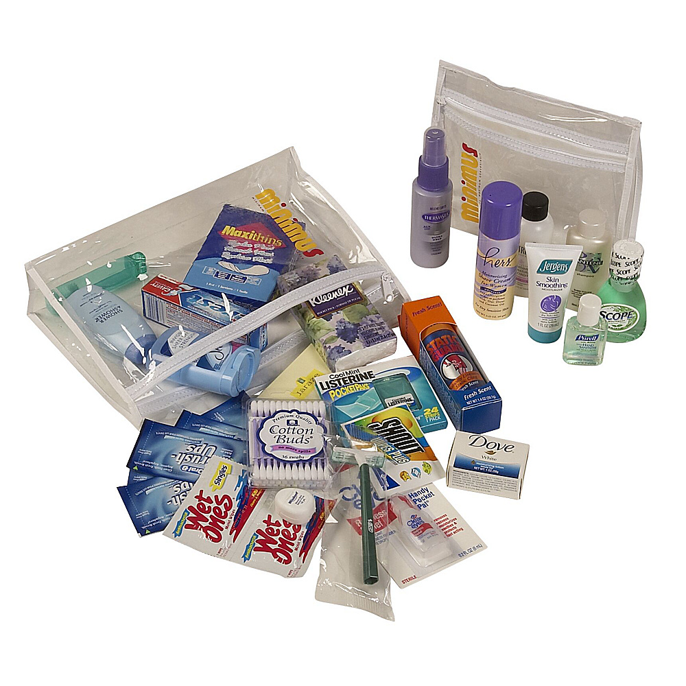 Minimus Female Personal Care Travel Kit - As Shown - Travel Accessories, Travel Health & Beauty