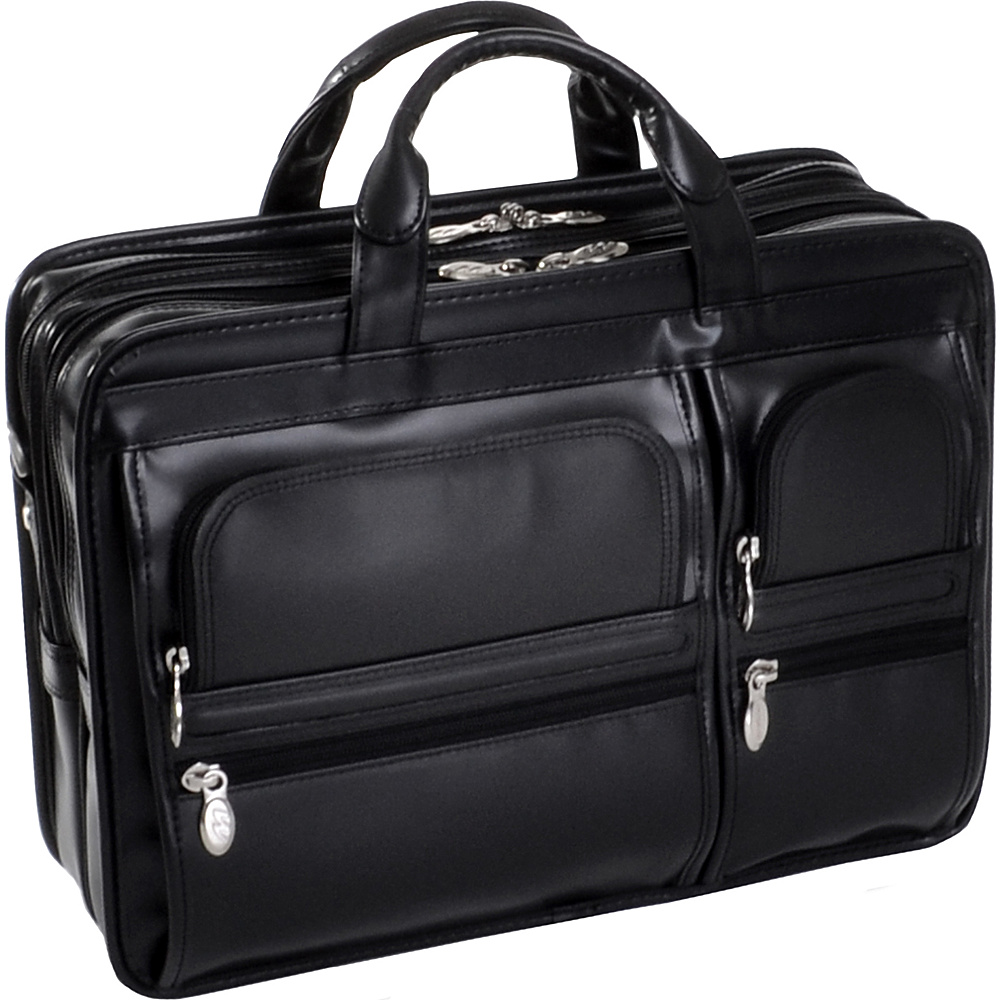 McKlein USA Hubbard Leather 15.4 Laptop Case - Black - Work Bags & Briefcases, Non-Wheeled Business Cases