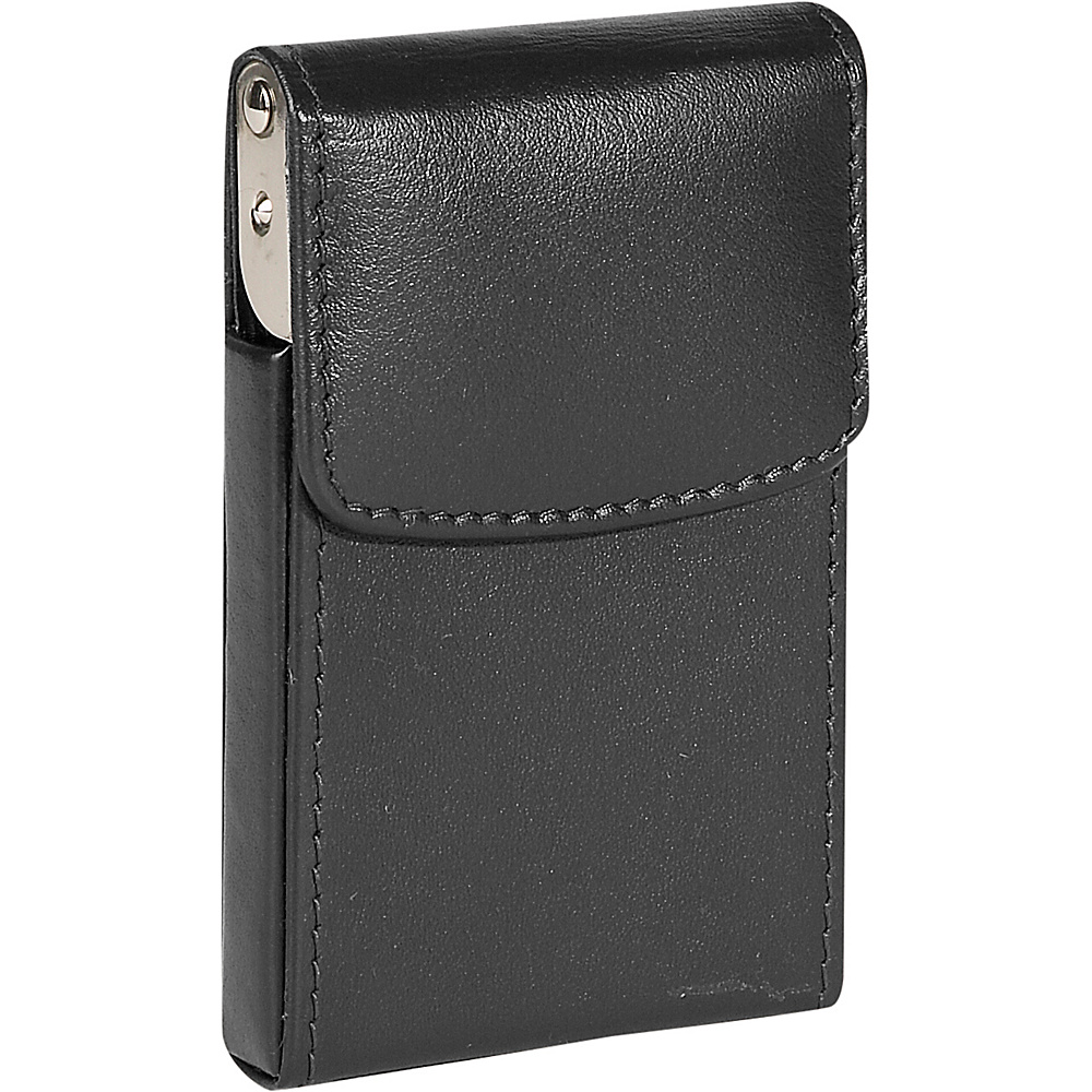 Royce Leather Vertical Framed Card Case - Black - Work Bags & Briefcases, Business Accessories