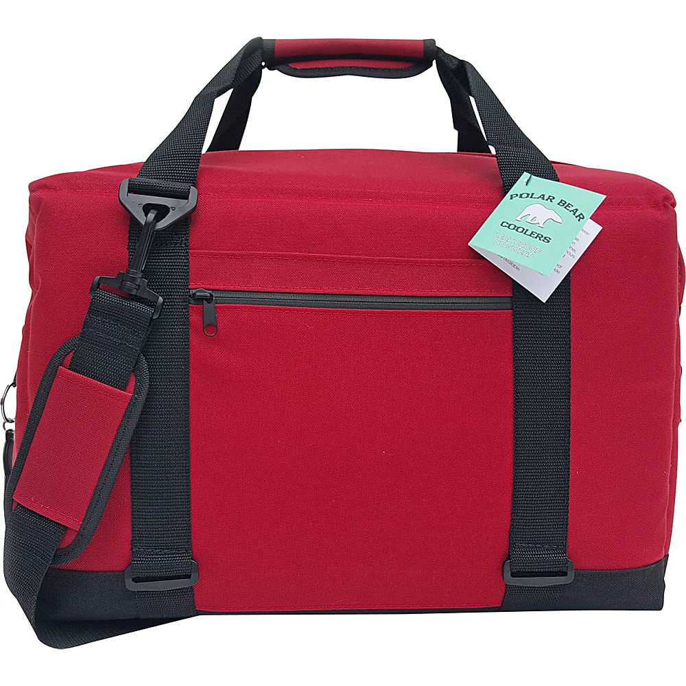 Polar Bear Coolers 24 Pack Soft Side Cooler - Red - Red