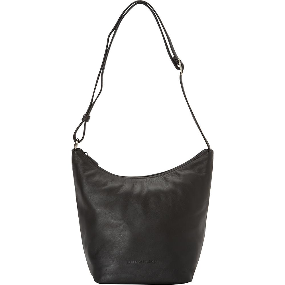 Derek Alexander Top Zip Bucket Bag Black - Derek Alexander Leather Handbags - Handbags, Leather Handbags