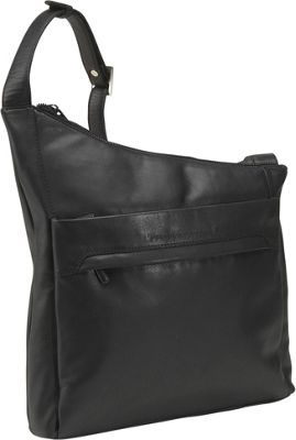 Derek Alexander North/South Angled Hobo - Black