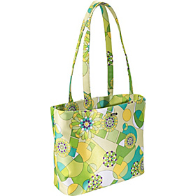 Lime Green Geometric Print Baby Bag Tote Lime Green