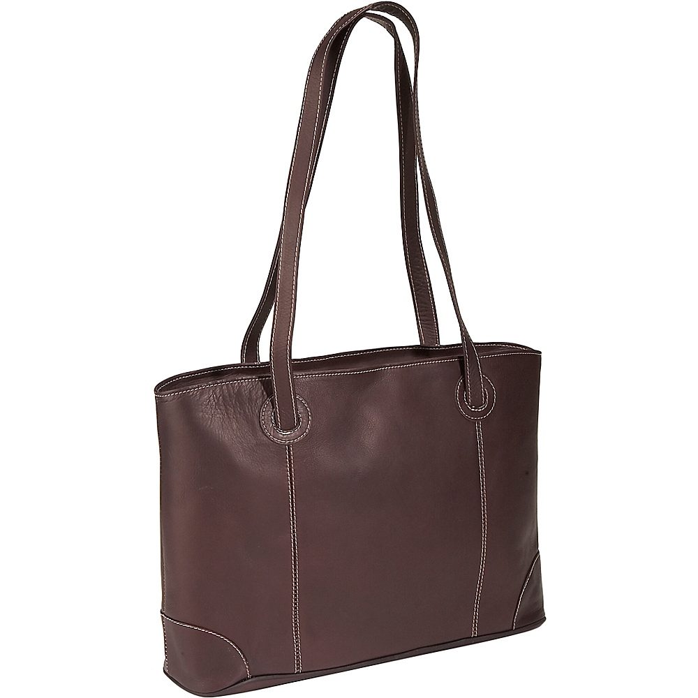 Piel Ladies Laptop Tote - Chocolate - Work Bags & Briefcases, Women's Business Bags