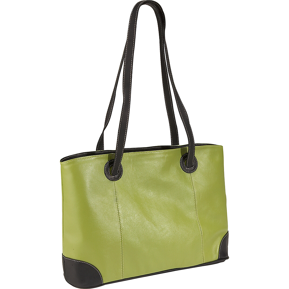 Piel Ladies Laptop Tote - Apple/Black