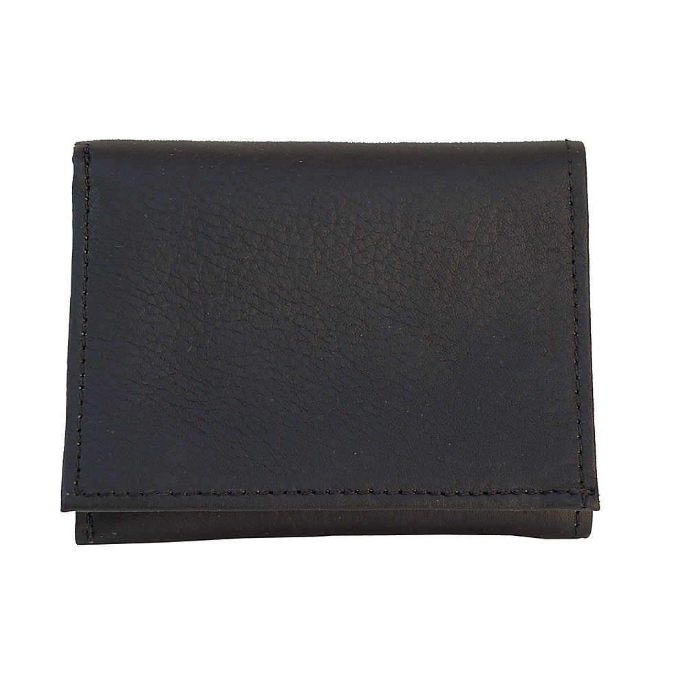 Piel Tri-Fold Wallet - Black - Work Bags & Briefcases, Men's Wallets
