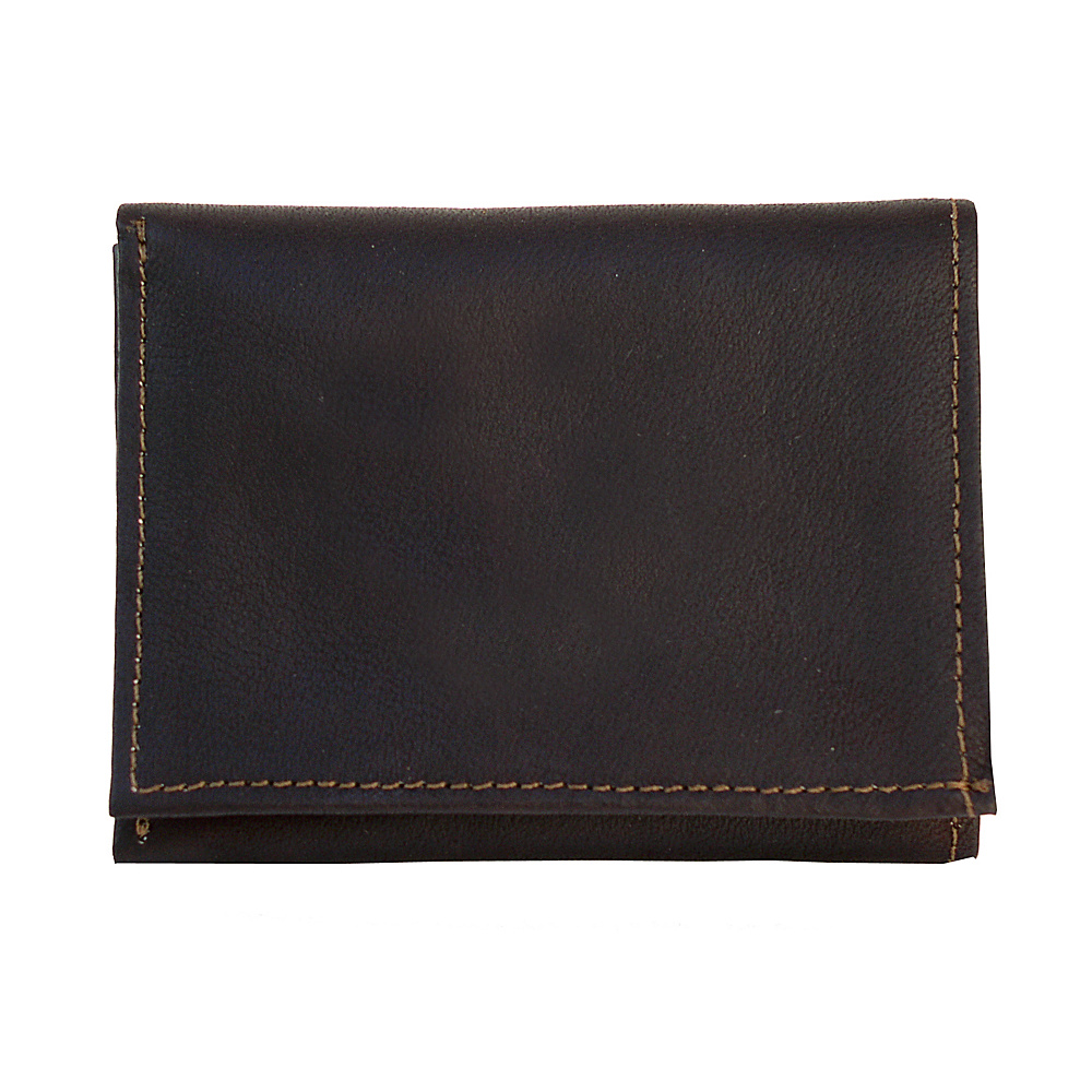 Piel Tri-Fold Wallet - Chocolate - Work Bags & Briefcases, Men's Wallets