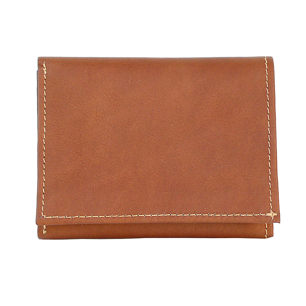 Piel Tri-Fold Wallet - Saddle - Work Bags & Briefcases, Men's Wallets