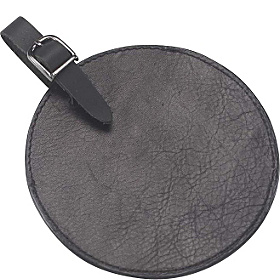Tuscan Leather Circle Luggage Tag Tuscan Black
