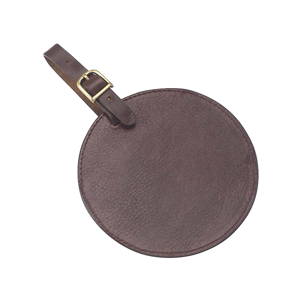 Clava Tuscan Leather Circle Luggage Tag - Tuscan Cafe - Travel Accessories, Luggage Accessories