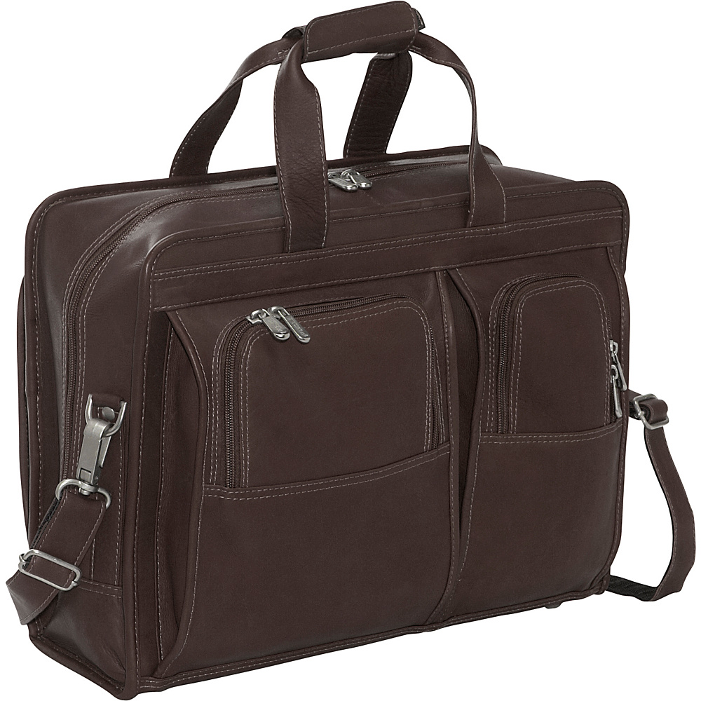 Piel Professional Computer Portfolio - Chocolate - Work Bags & Briefcases, Non-Wheeled Business Cases