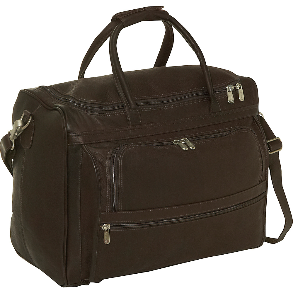 Piel Computer Carry-All Bag - Chocolate - Work Bags & Briefcases, Non-Wheeled Business Cases