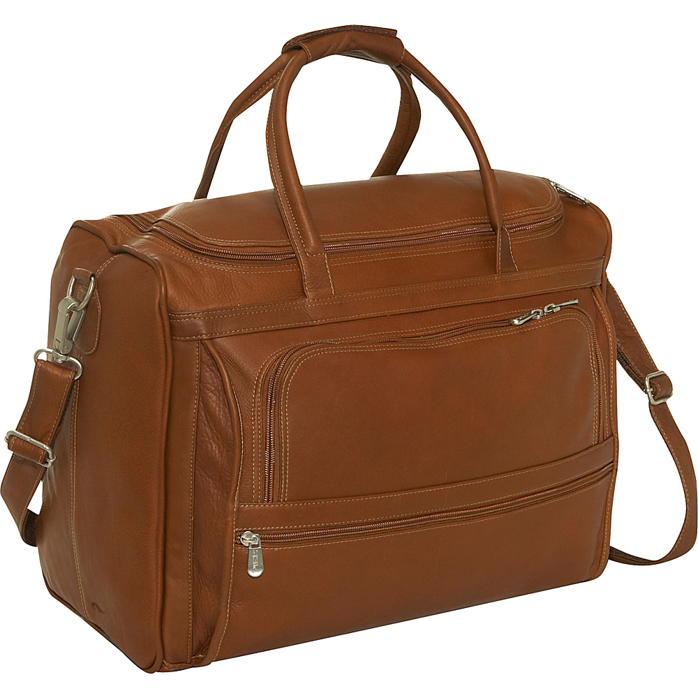 Piel Computer Carry-All Bag - Saddle - Work Bags & Briefcases, Non-Wheeled Business Cases