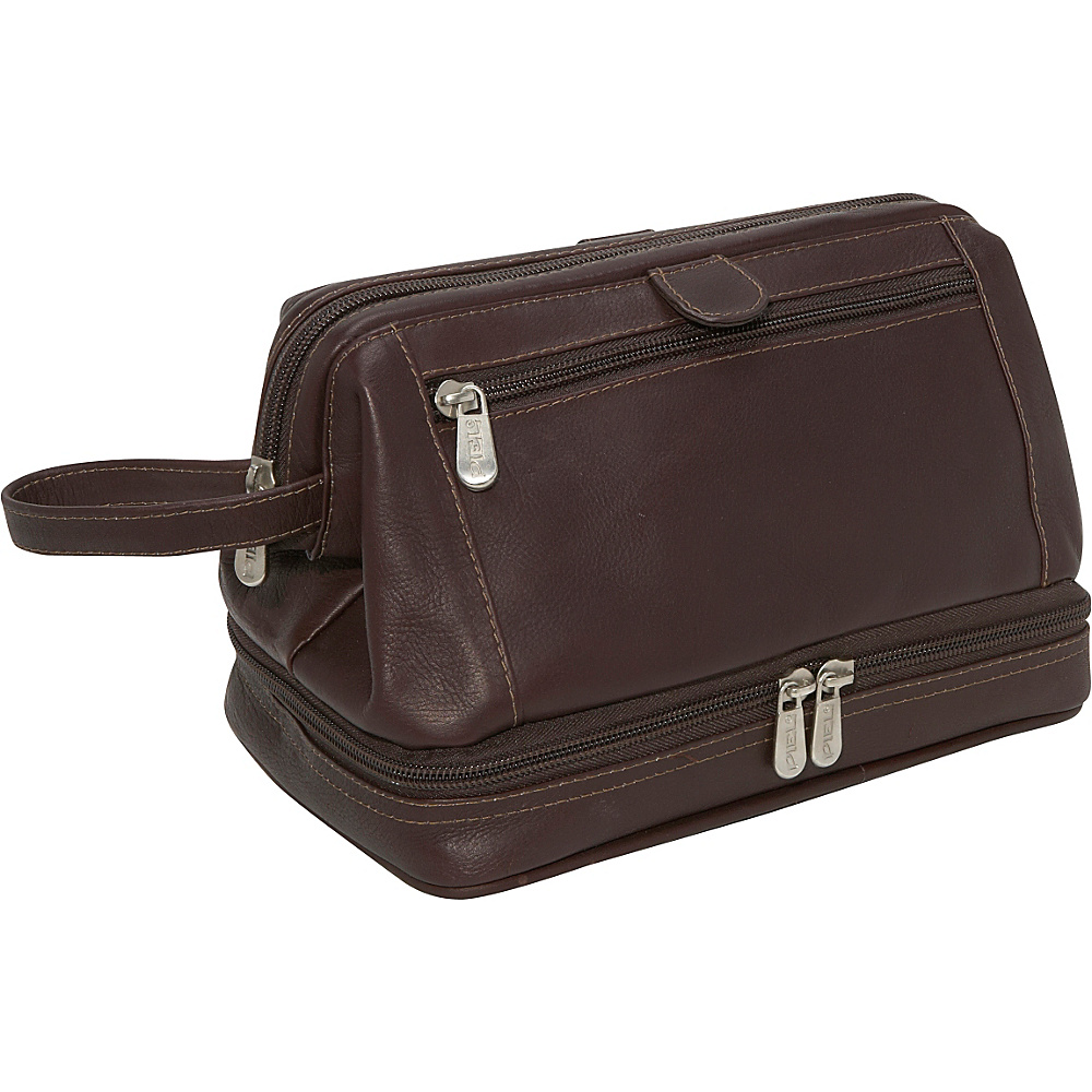 Piel U Frame Utility Kit w/Zip Bottom - Chocolate - Travel Accessories, Toiletry Kits