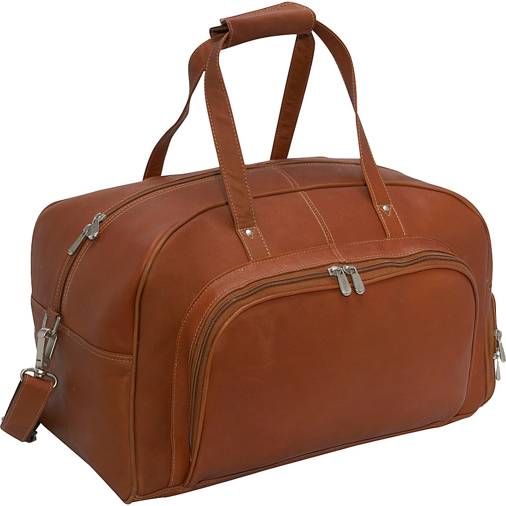Piel Deluxe Carry-On Duffel - Saddle - Luggage, Rolling Duffels