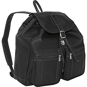 Drawstring Laptop Backpack Black