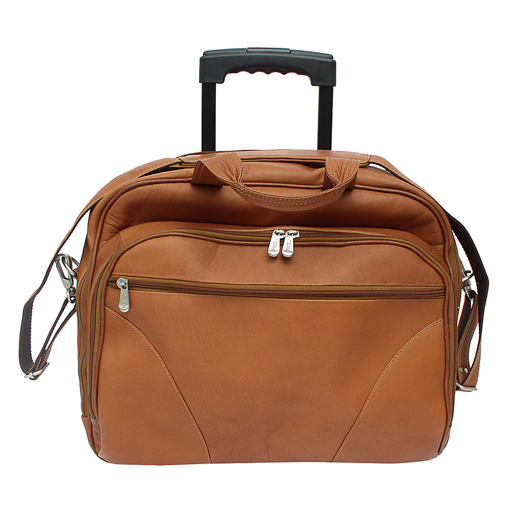Piel Office On Wheels - Saddle - Work Bags & Briefcases, Wheeled Business Cases