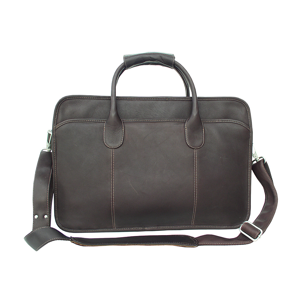 Piel Simple  Portfolio - Chocolate - Work Bags & Briefcases, Non-Wheeled Business Cases