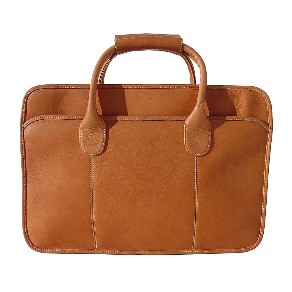 Piel Simple  Portfolio - Saddle - Work Bags & Briefcases, Non-Wheeled Business Cases