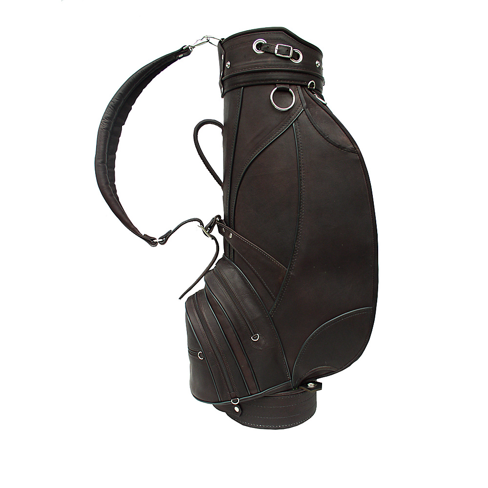Piel Deluxe 9 Leather Golf Bag - Chocolate - Sports, Golf Bags
