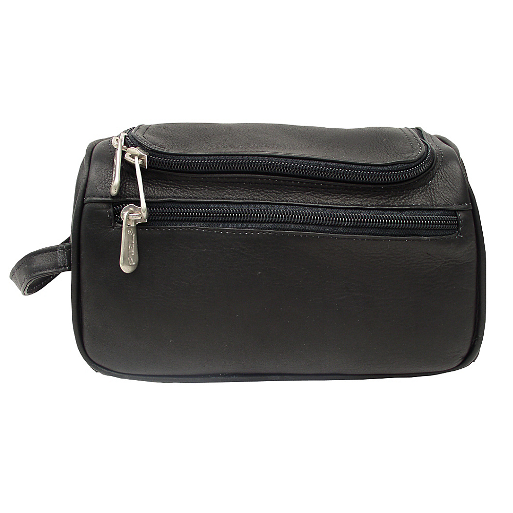 Piel U-Zip Toiletry Kit - Black - Travel Accessories, Toiletry Kits