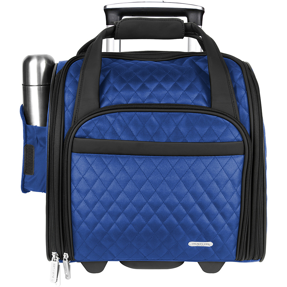 Travelon Wheeled Underseat Carry-On Bag - 14 Royal Blue - Exclusive Color - Travelon Softside Carry-On - Luggage, Softside Carry-On
