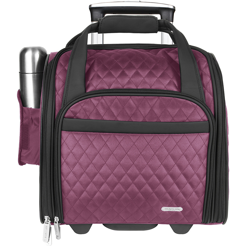 Travelon Wheeled Underseat Carry-On Bag 14 - eBags Exclusive Berry - Exclusive Color - Travelon Softside Carry-On - Luggage, Softside Carry-On