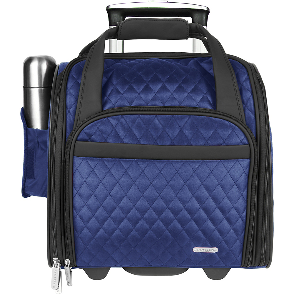 Travelon Wheeled Underseat Carry-On Bag 14 - eBags Exclusive Deep Blue - Exclusive Color - Travelon Softside Carry-On - Luggage, Softside Carry-On