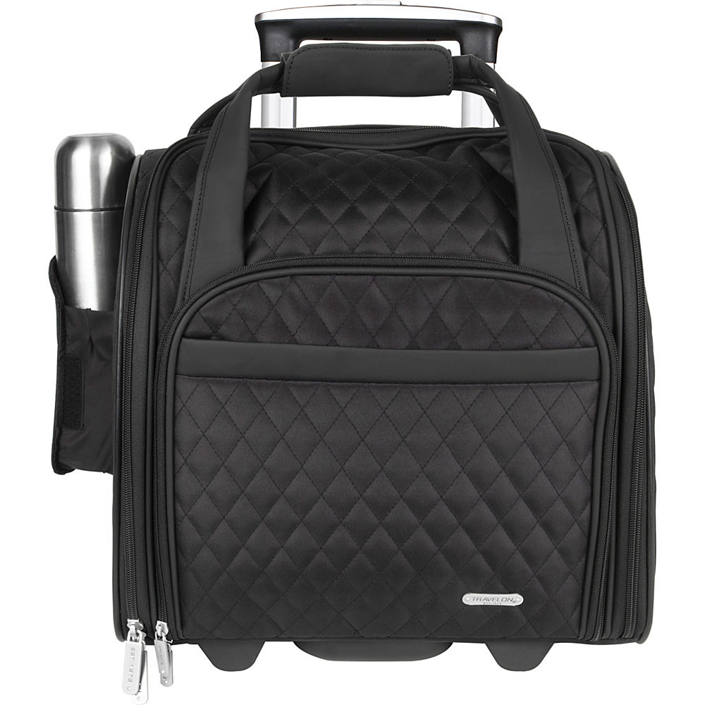 Travelon Wheeled Underseat Carry On With Back Up Bag Exclusive Colors Black Travelon Softside Carry On