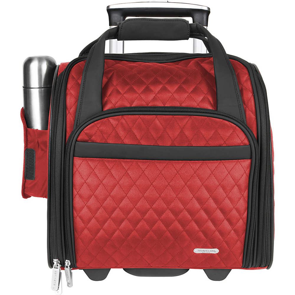 Travelon Wheeled Underseat Carry-On Bag - 14 Red - Travelon Softside Carry-On - Luggage, Softside Carry-On