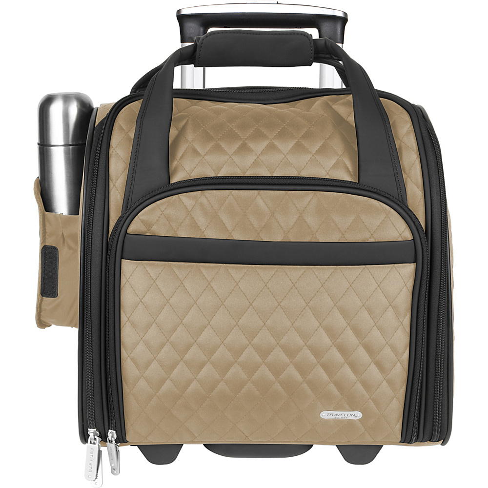 Travelon Wheeled Underseat Carry-On with Back-Up Bag - - Luggage, Softside Carry-On