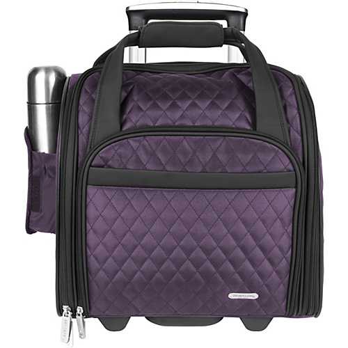 Travelon Wheeled Underseat Carry-On with Back-Up Bag Eggplant - Travelon Luggage Totes and Satchels