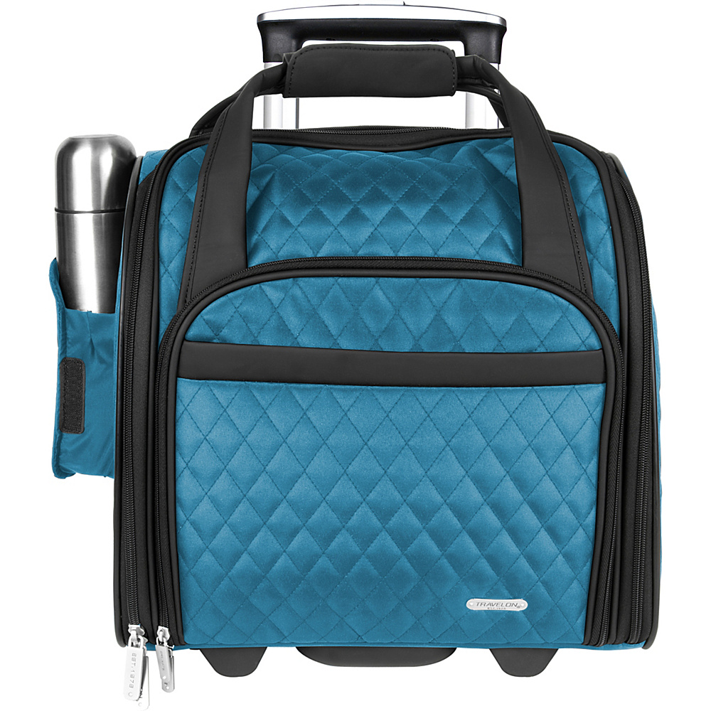 Travelon Wheeled Underseat Carry-On Bag - 14 Teal - Exclusive Color - Travelon Softside Carry-On - Luggage, Softside Carry-On