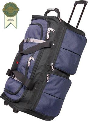 "Image of Athalon 15-Pocket 29"" Wheeling Duffel - Blue w/ Black"