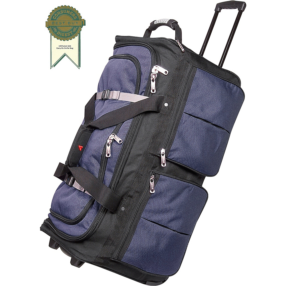 Athalon 15-Pocket 29 Wheeling Duffel - Blue w/ Black - Duffels, Travel Duffels