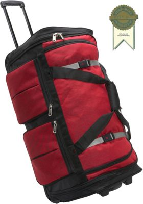 Athalon 15-Pocket 29 inch Wheeling Duffel Red - Athalon Rolling Duffels